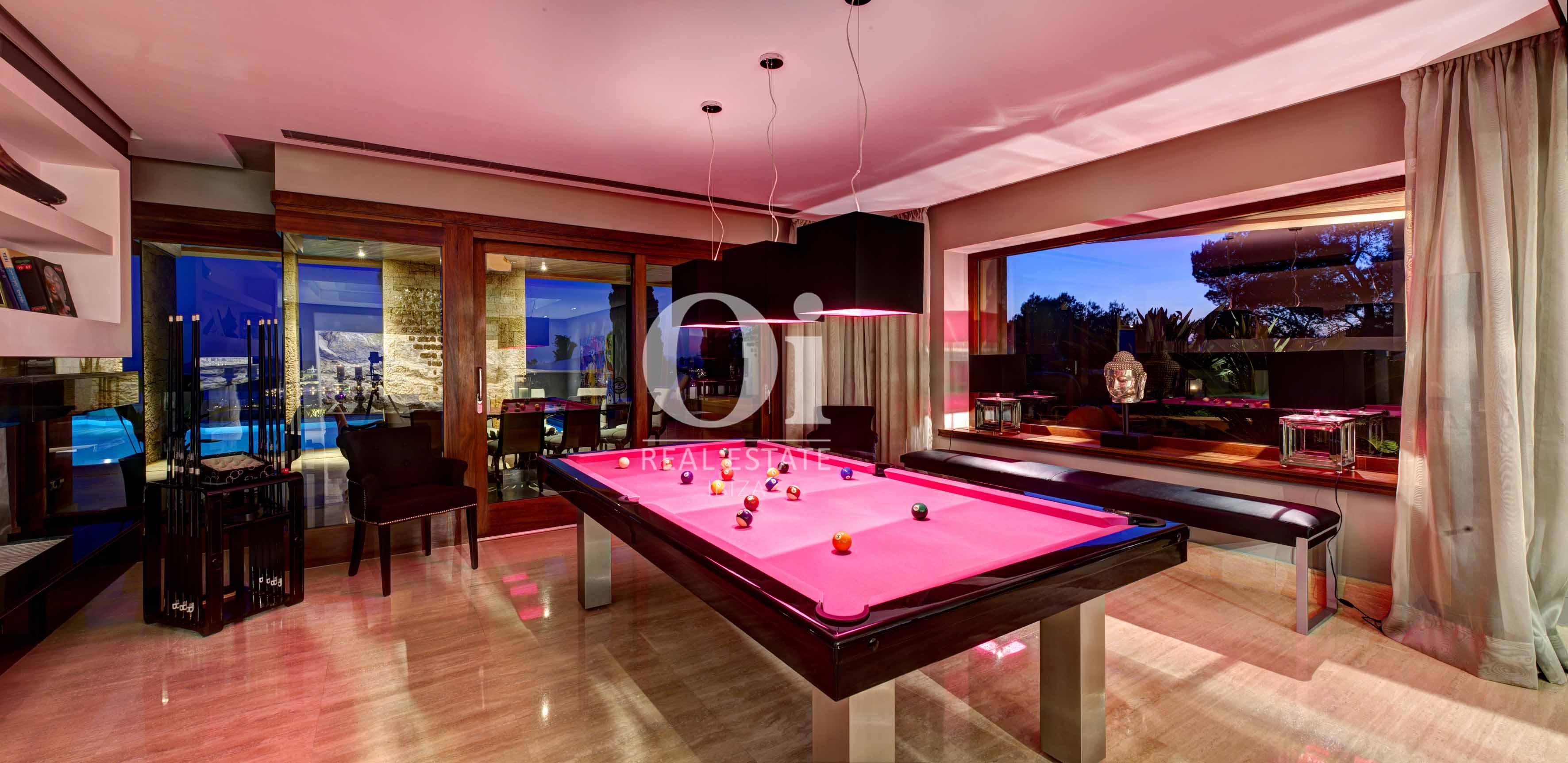 Бильярдная комната в вилле, доступной для арендования в летний период в г. Хесус, Ибица