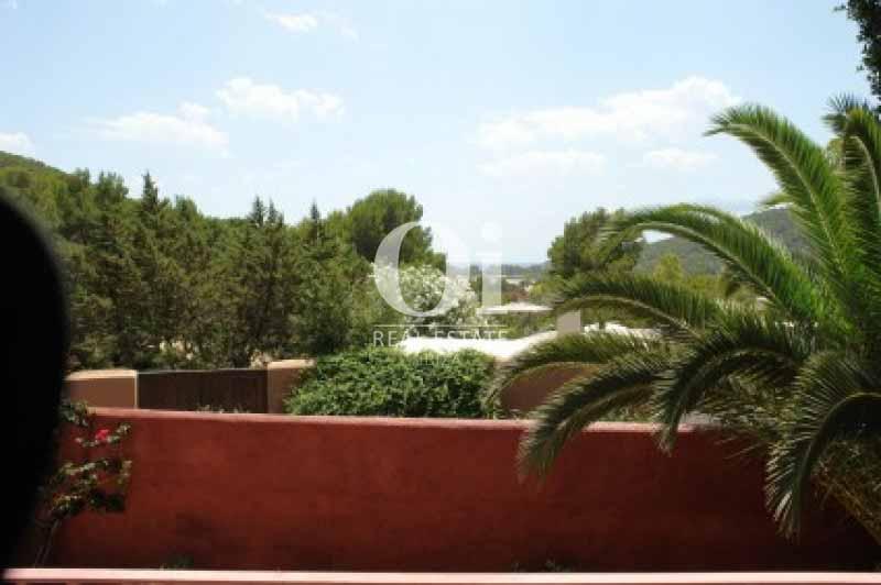 Vistas desde casa en alquiler vacacional en Ses Salines, Ibiza