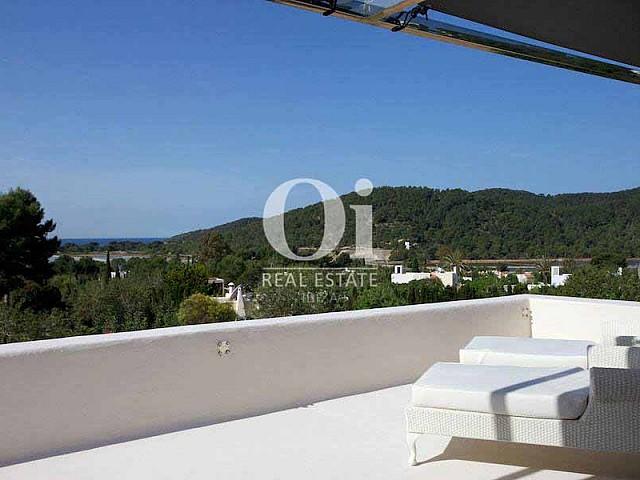 Magnifiques vues depuis maison en location de séjour à Les Salinas, Ibiza