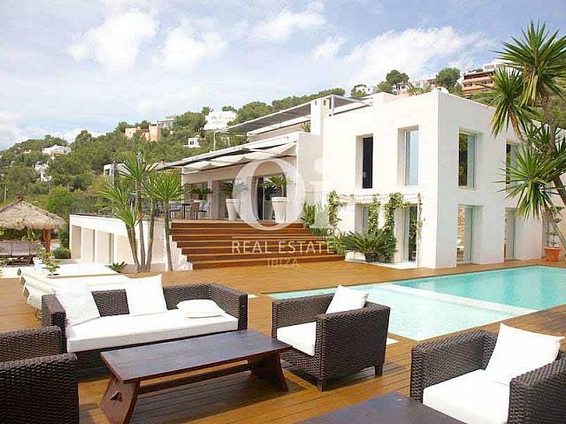 Magnifique vue sur Las Salinas à villa exclusive à louer à Ibiza