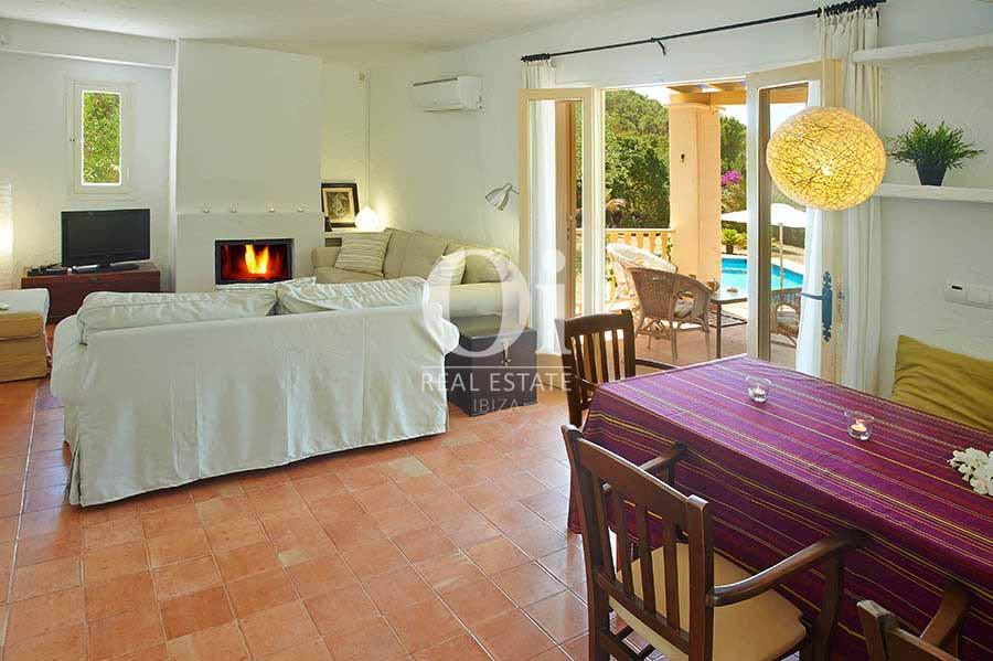 Comedor de casa en alquiler de estancia en zona Ses Salines, Ibiza