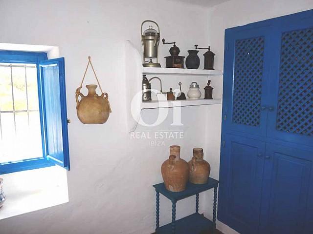 Интерьеры в доме, сдающемся в аренду в период летних отпусков на Форментере