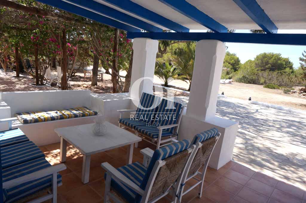 Comedor de verano de casa en alquiler en Formentera