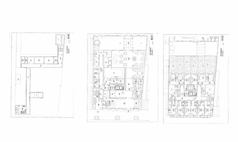 Blick auf den Plan vom Gebäude zum Verkauf im Eixample Dreta, Barcelona