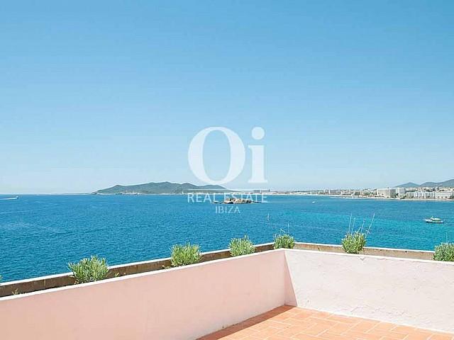 Traumhafter Ausblick von der Ferienvilla auf Ibiza, Los Molinos