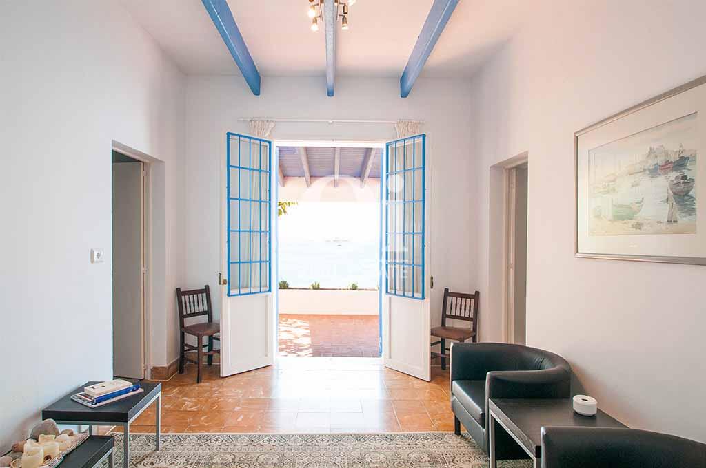 Interior de casa en alquiler vacacional en Ibiza