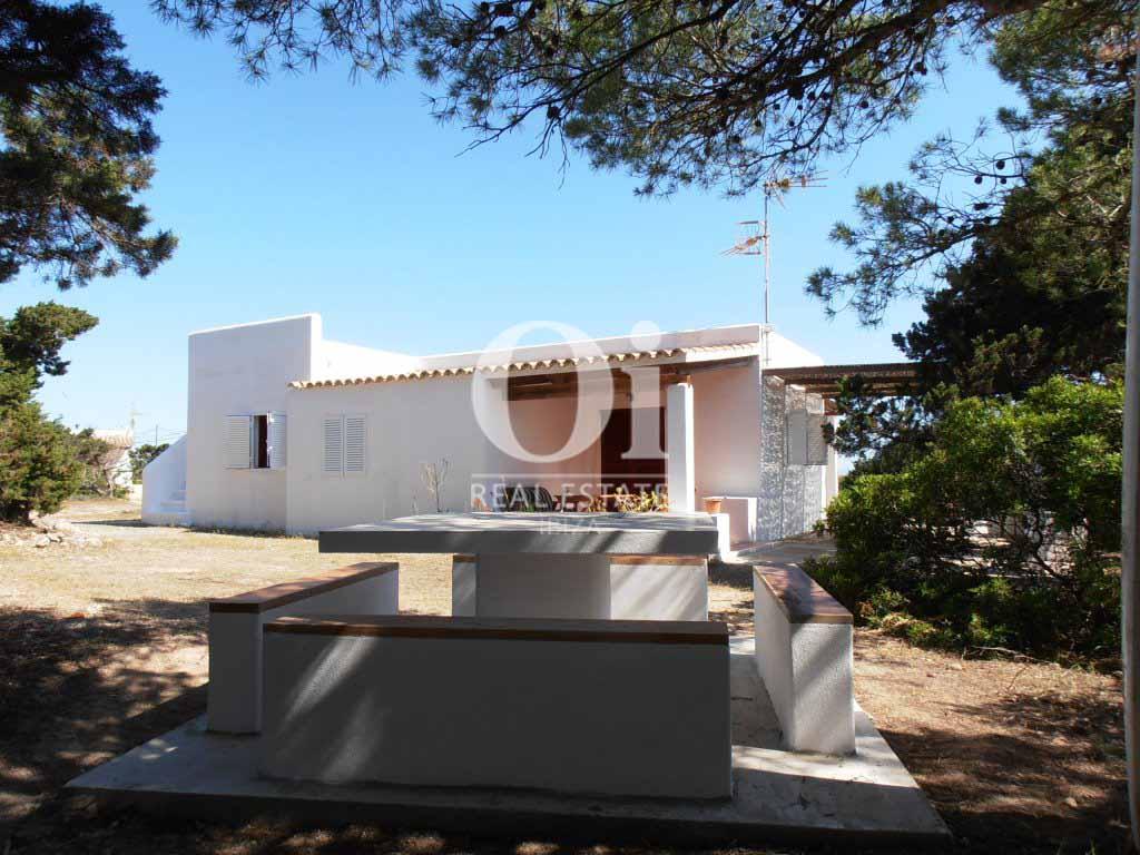 Exteriores  de casa en alquiler de estancia en Formentera