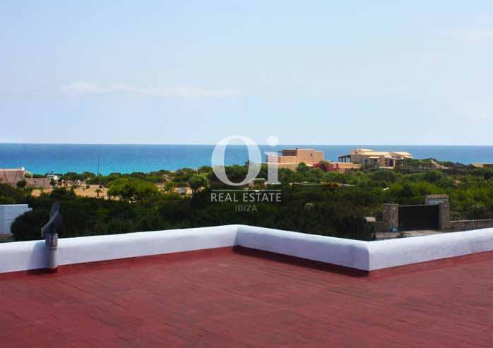 Terraza  de casa en alquiler de estancia en Formentera
