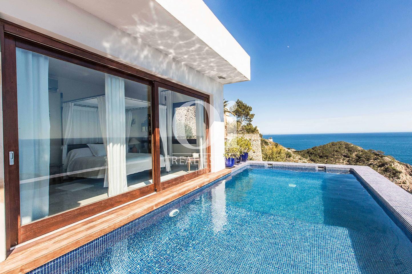 Piscina  de casa de alquiler de estancia en Roca Llisa, Ibiza