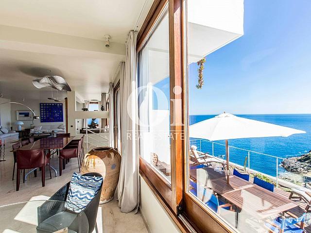 Vistas des de casa de alquiler de estancia en Roca Llisa, Ibiza