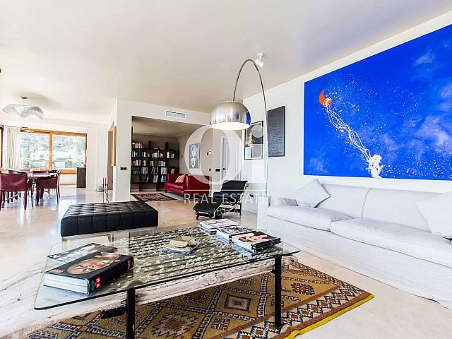 Salon de maison pour séjour en location à Roca Llisa, Ibiza