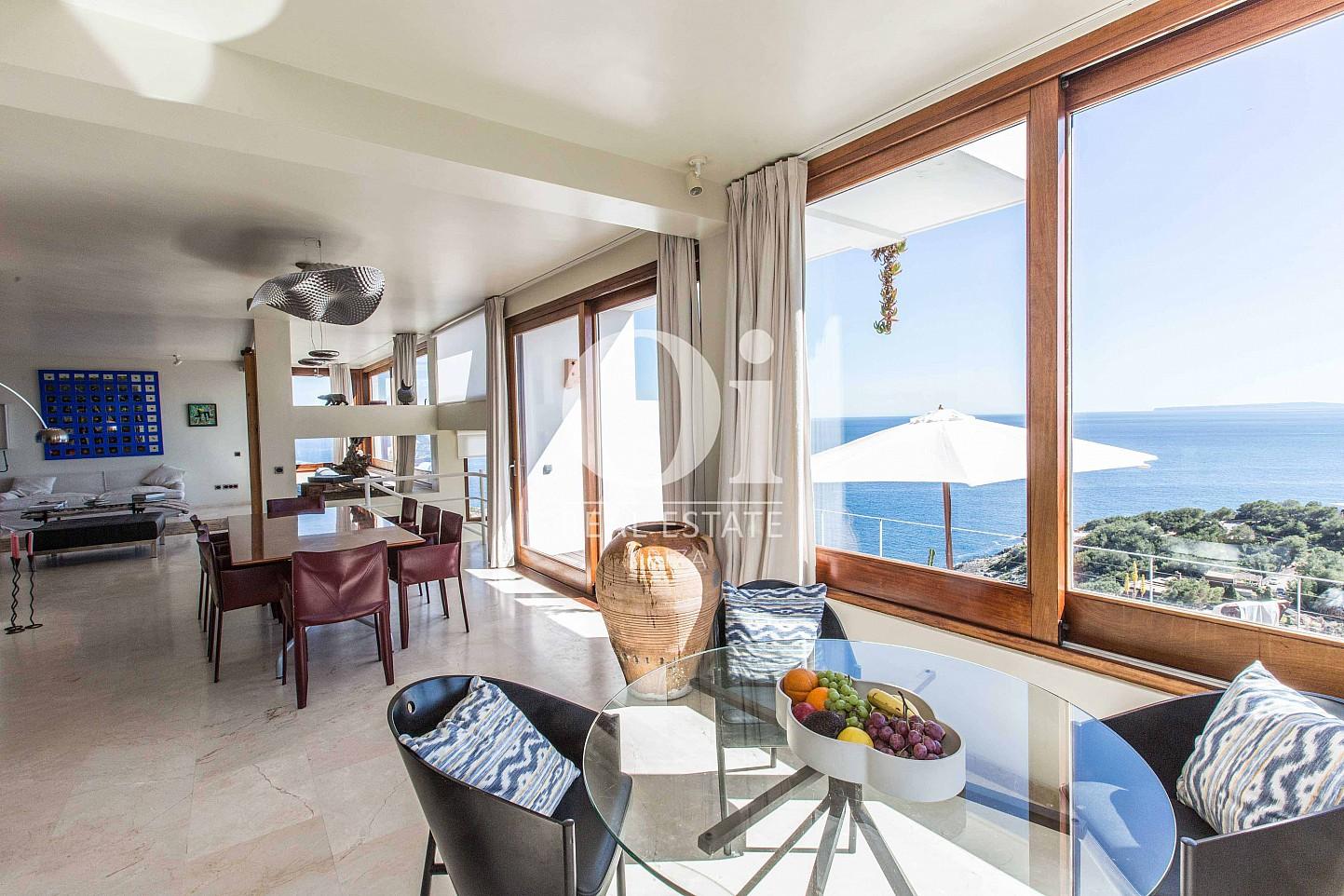 Sala de estar  de casa de alquiler de estancia en Roca Llisa, Ibiza