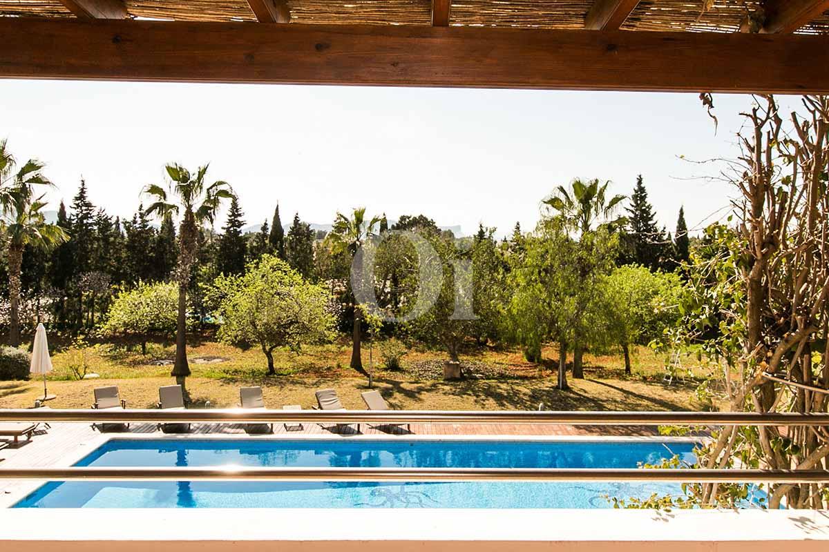 Jardín de casa en alquiler de estancia en San Jose, Ibiza