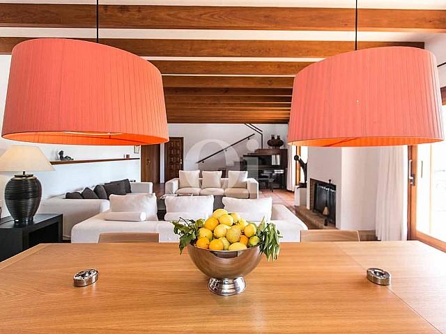 Salle à manger de maison pour séjour en location à San Jose, Ibiza