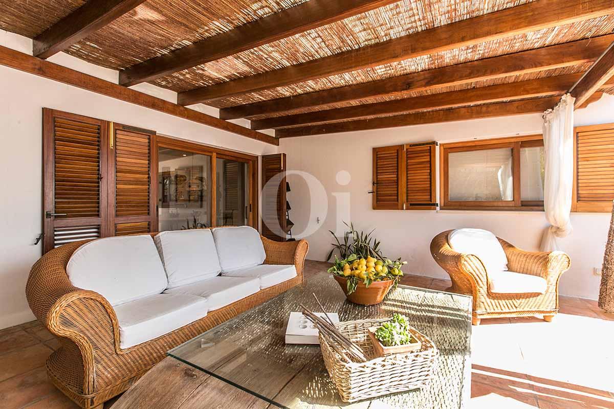 Zona chillout de casa en alquiler de estancia en San Jose, Ibiza