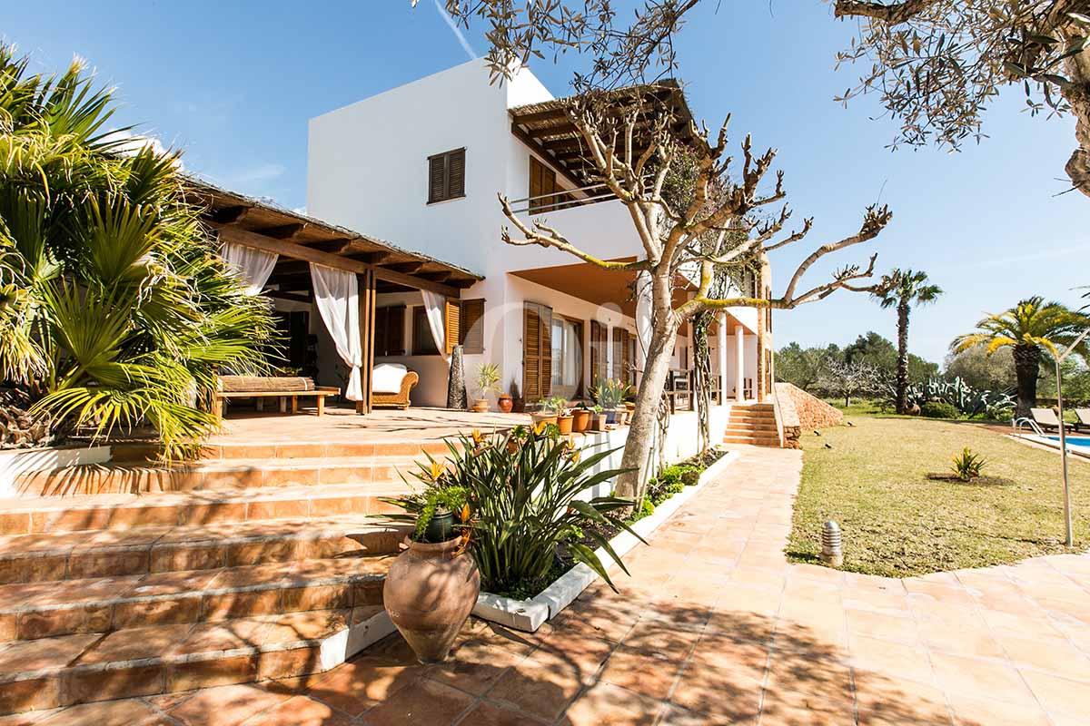 Patio de casa en alquiler de estancia en San Jose, Ibiza
