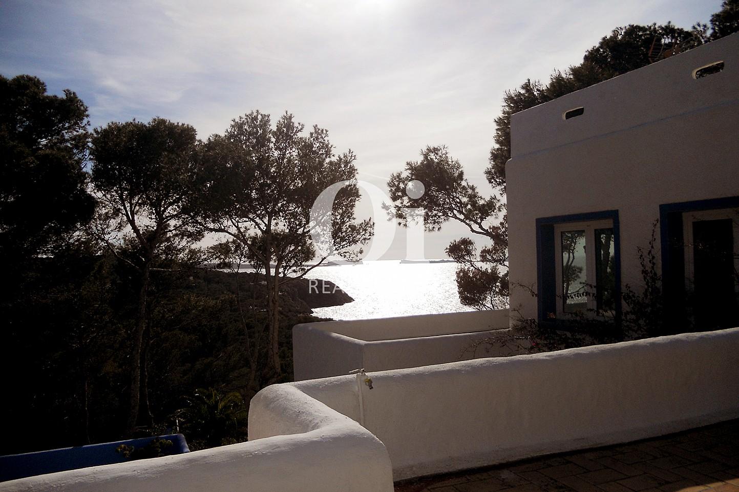 Schöner Ausblick vom Haus zum Verkauf in Punta Galera, Ibiza