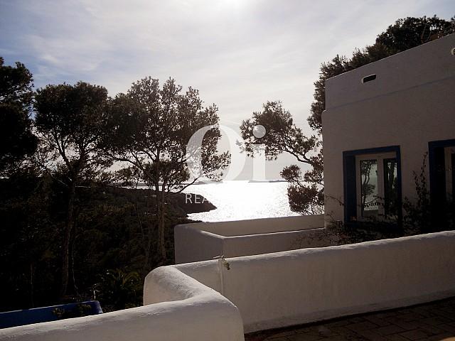 Extraordinarias vistas al mar desde casa en venta en Punta Galera, Ibiza