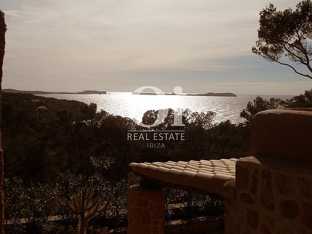 Traumhafter Ausblick vom Haus zum Verkauf in Punta Galera, Ibiza
