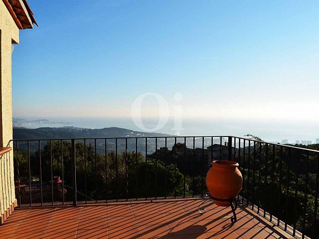 Blick vom Balkon vom Landhaus zum Verkauf in Platja d`Aro