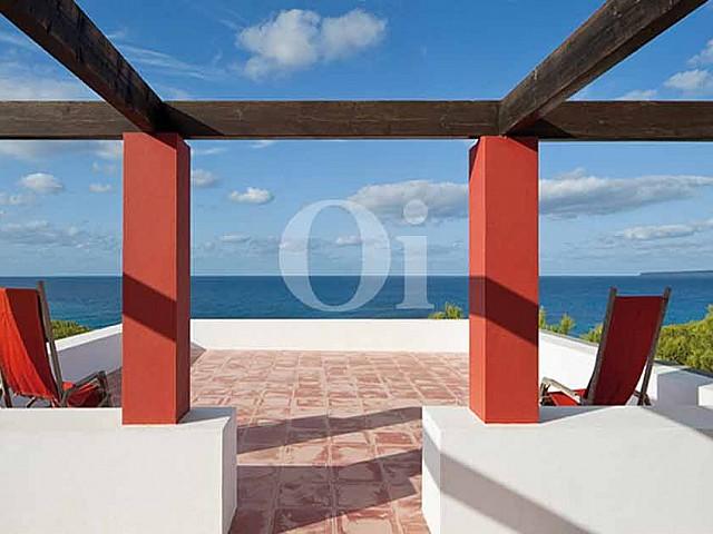 Terrasse de la maison en location à Formentera