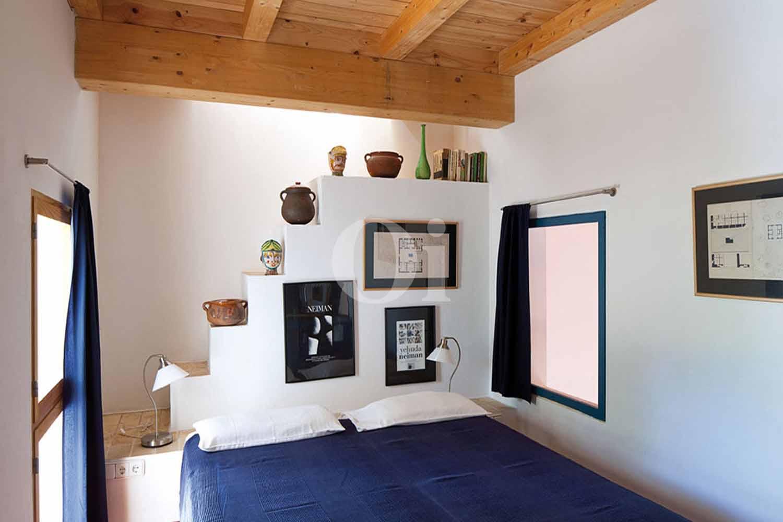 Chambre de la maison en location à Formentera