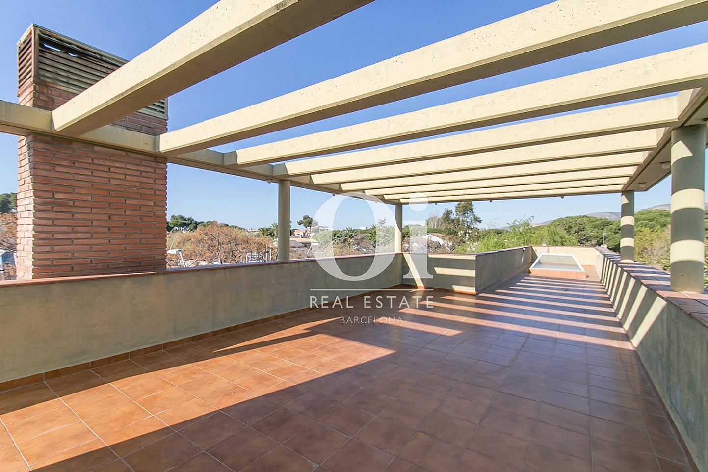 Terrasse de la maison en vente à Castelldefels, Barcelone