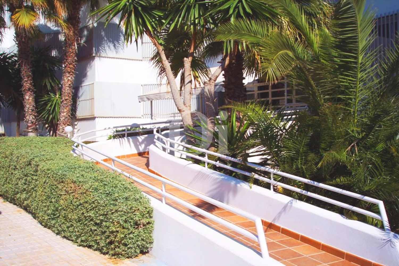 Blick in den Gartenbereich vom Penthouse zum Verkauf, San Antonio