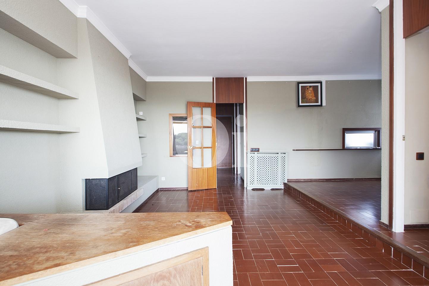 Sala de estar de ático en venta en Sant Vicenç de Montalt