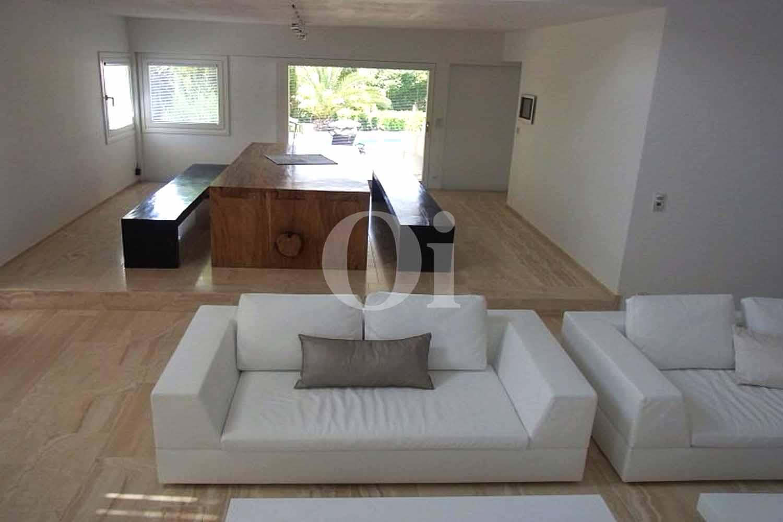 Salon de la maison en location pour séjour à San José, Ibiza