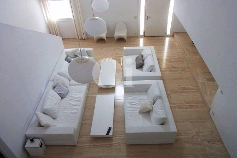Sala de estar de casa de alquiler de estancia en San José, Ibiza
