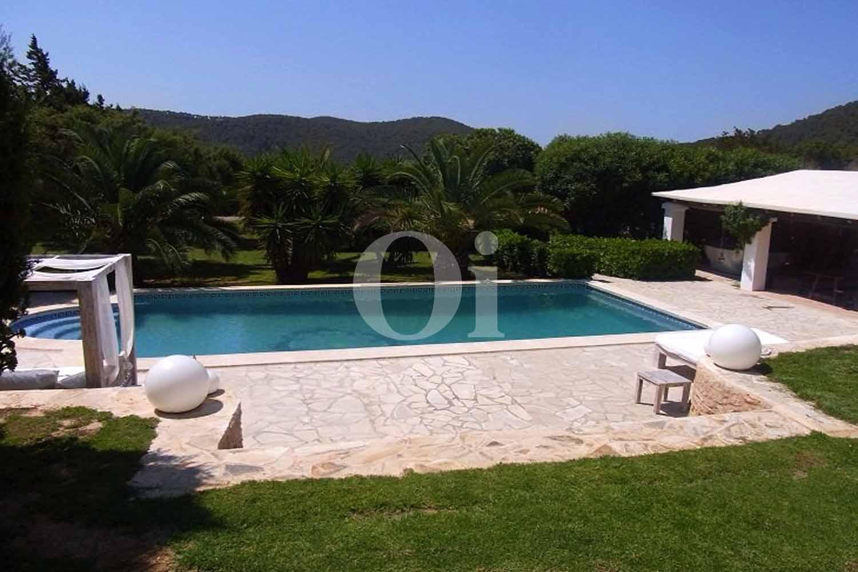 Piscina de casa de alquiler de estancia en San José, Ibiza