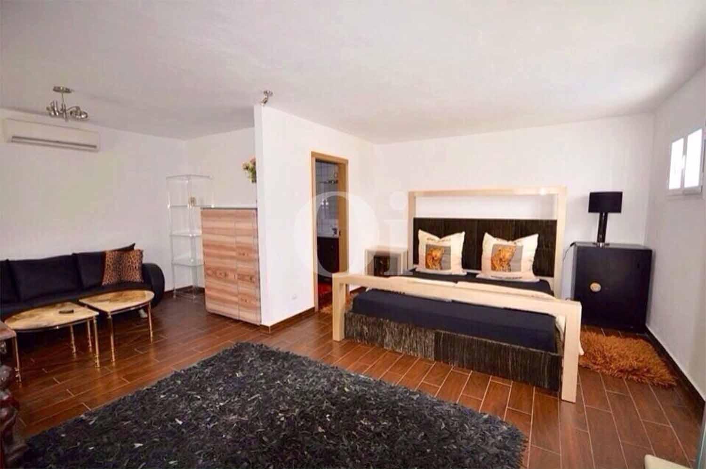 Sala de estar de villa en alquiler de estancia en Ibiza