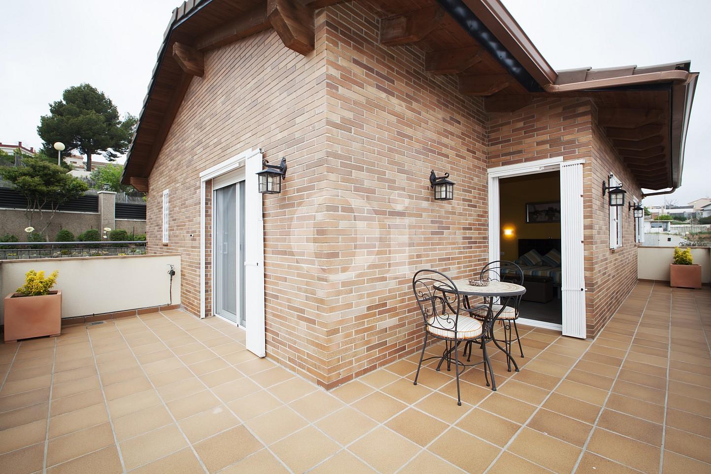 Blick auf die Veranda vom Haus zum Verkauf, Segur de Calafell