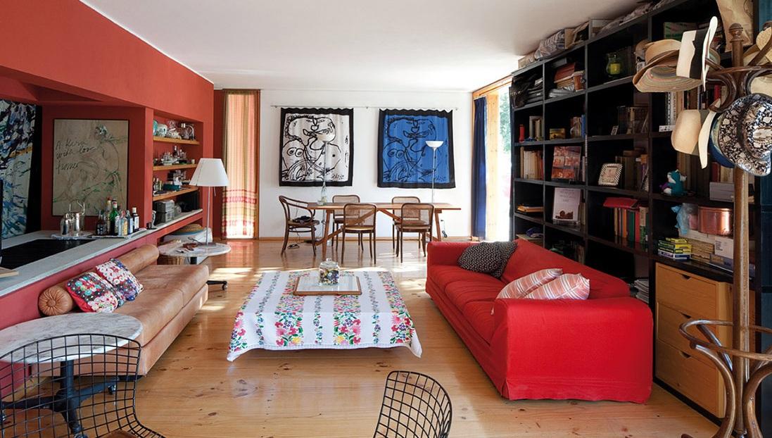 salón-comedor de casa en venta un entorno natural en Es Caló, Formentera