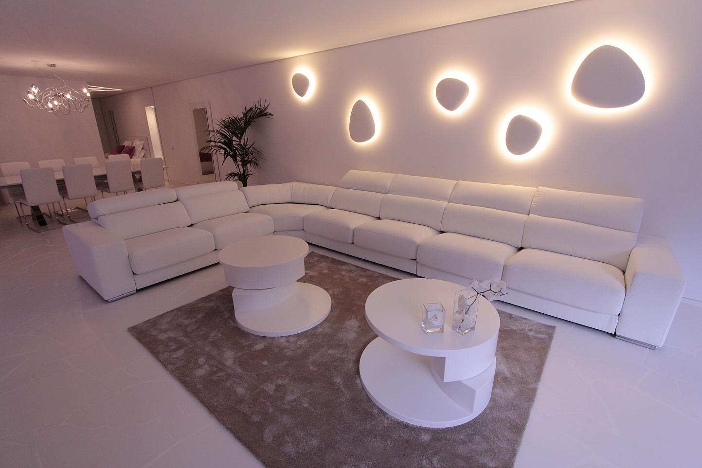 Sala de estar de apartamento en venta en Marina Botafoch, Ibiza
