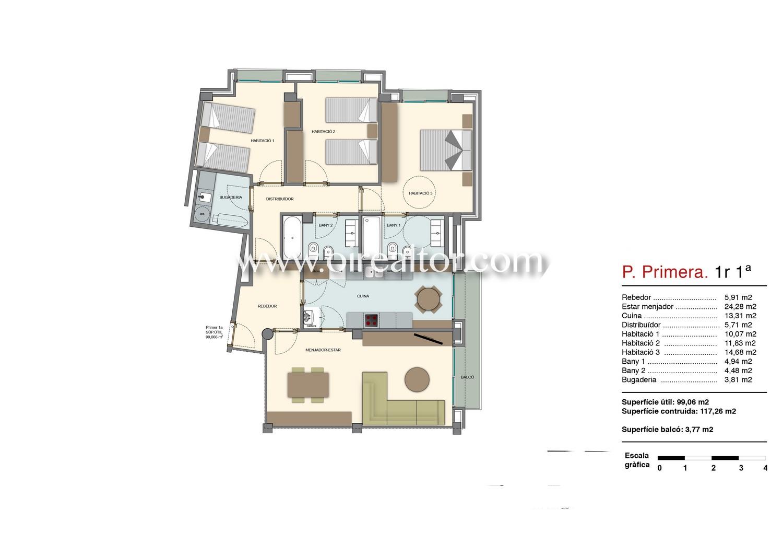 Квартира для продажи в центре Матаро