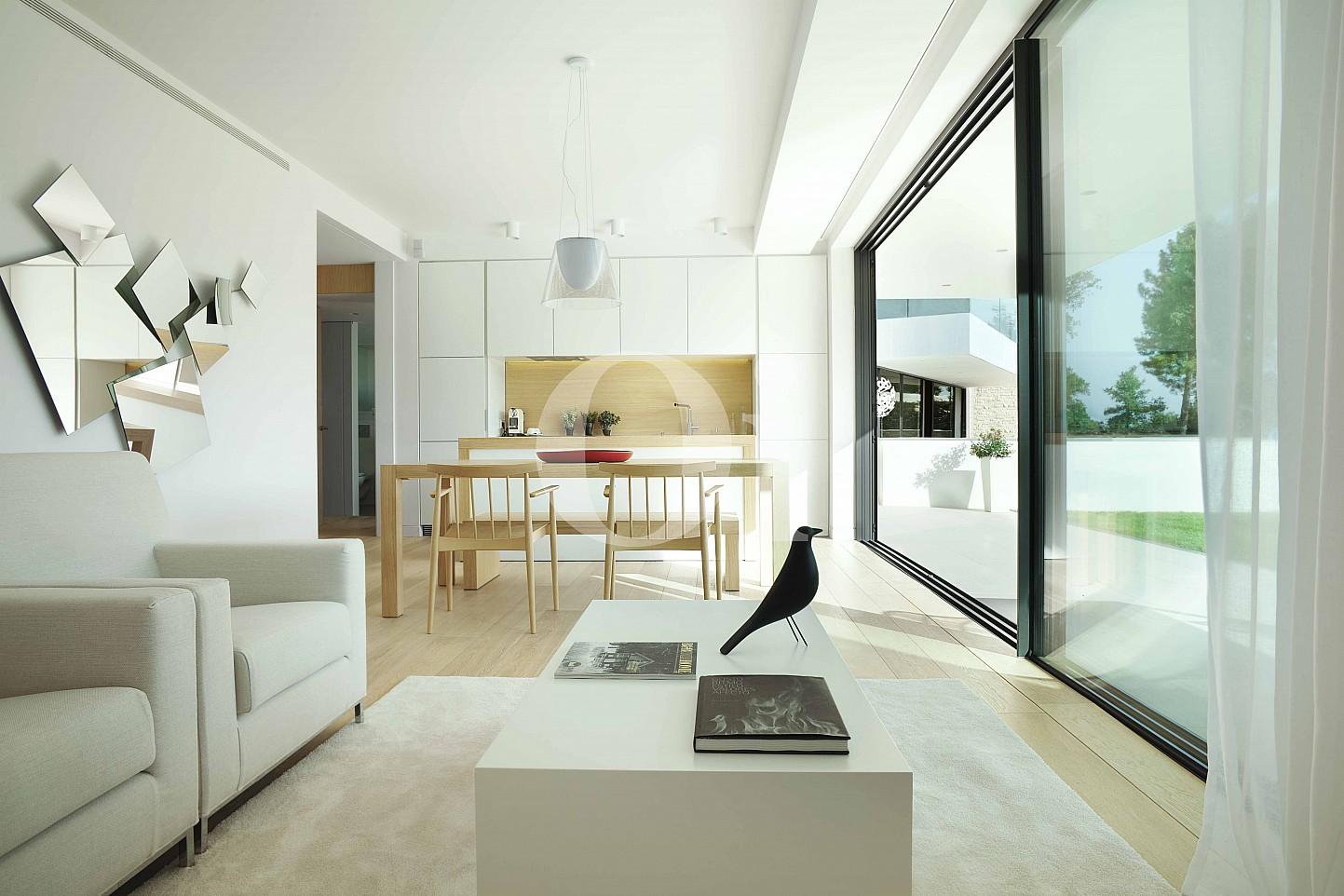 Blick in das Wohnzimmer vom Apartment im PGA Catalunya Resort