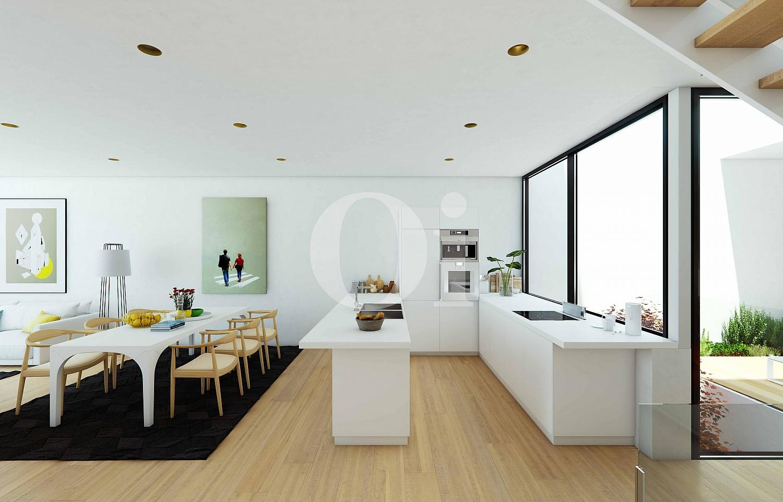 Cocina de casa adosada en venta en PGA Golf Catalunya Resort