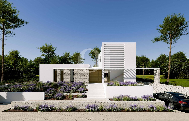 Vistas de lujosa villa minimalista en venta en Caldes de Malavella