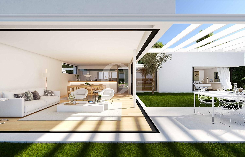 Blick in den Wohnbereich der Villa zum Verkauf im PGA Catalunya