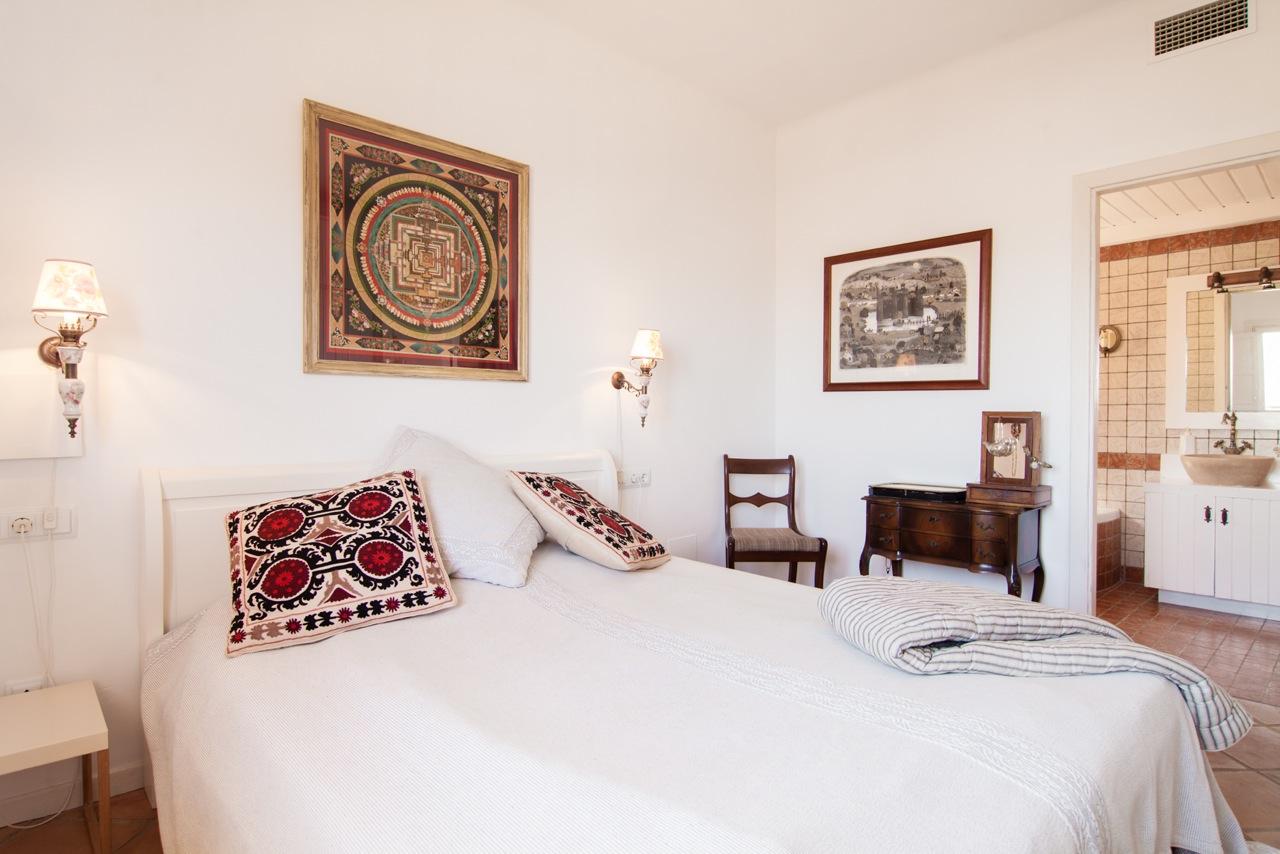 Dormitorio de fantastico apartamento en alquiler en Sant Jordi, Ibiza