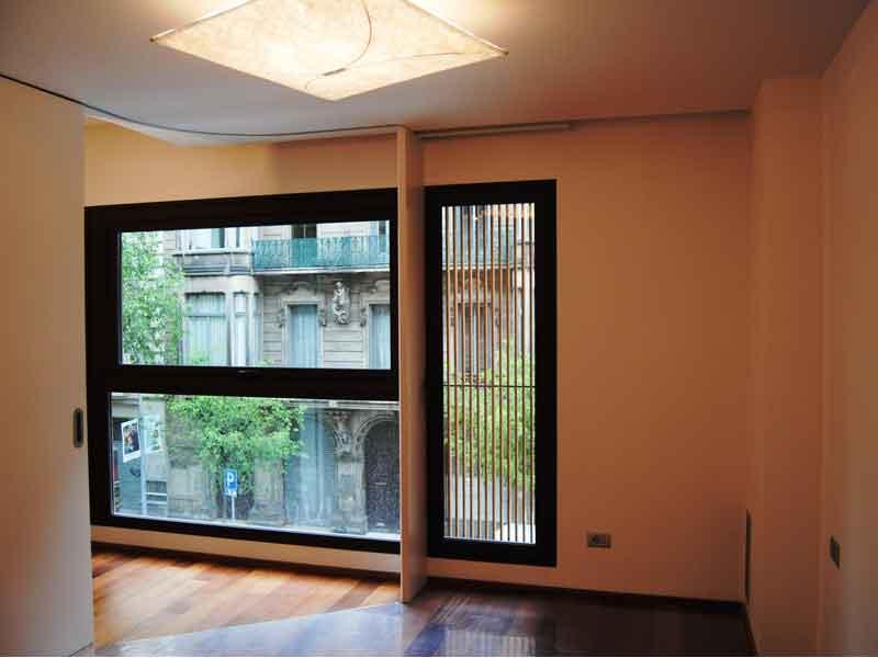 Wohnzimmer mit Anblicken  auf Barcelona