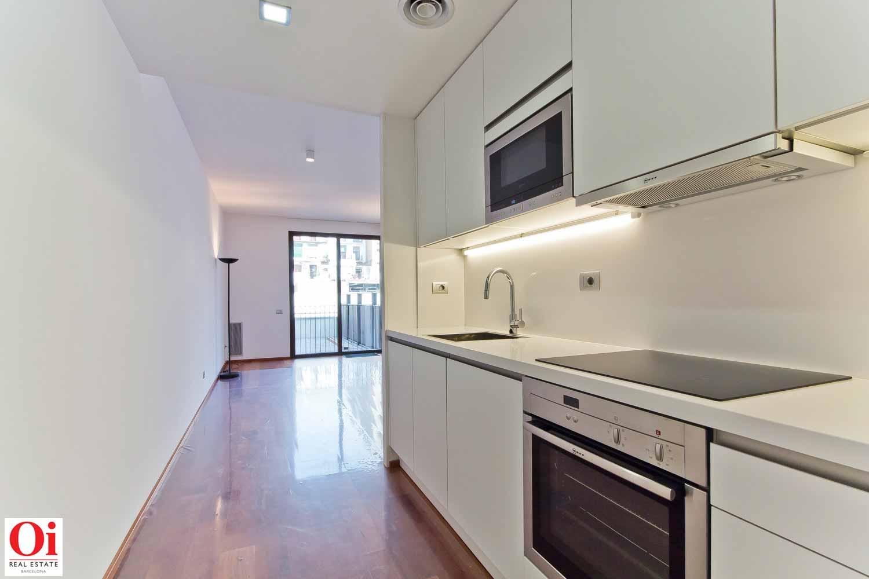 Cuisine équipée et fonctionnelle dans appartement luxueux en vente dans l'Eixample