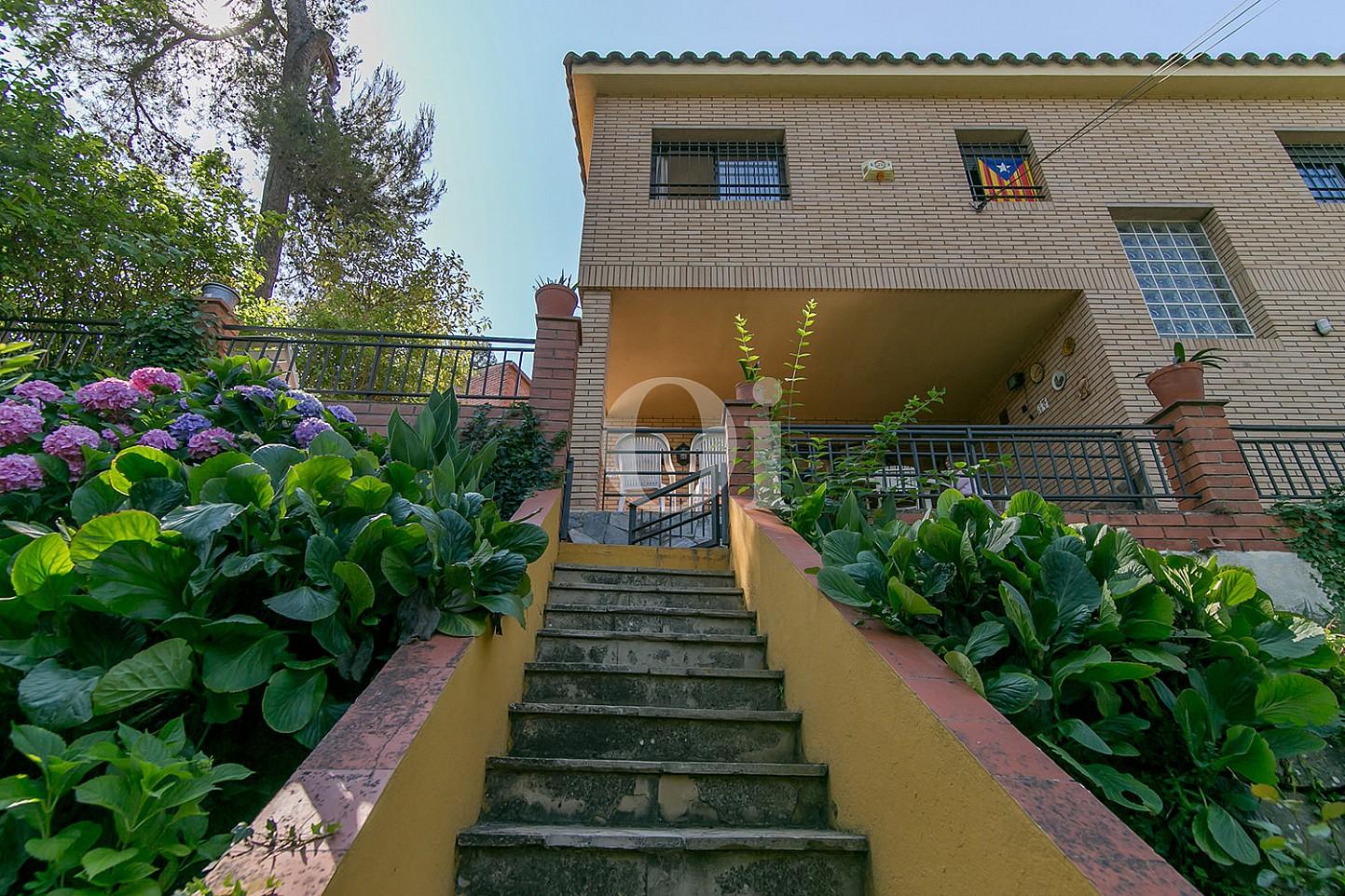 Espectacular vistas exteriores de casa en venta situada en Vallvidrera, Barcelona