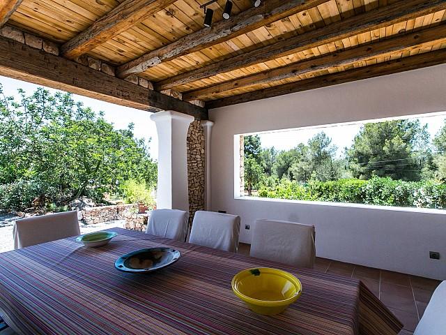 Чудесная веранда дома в аренду в Puig d'en Valls, Ибица