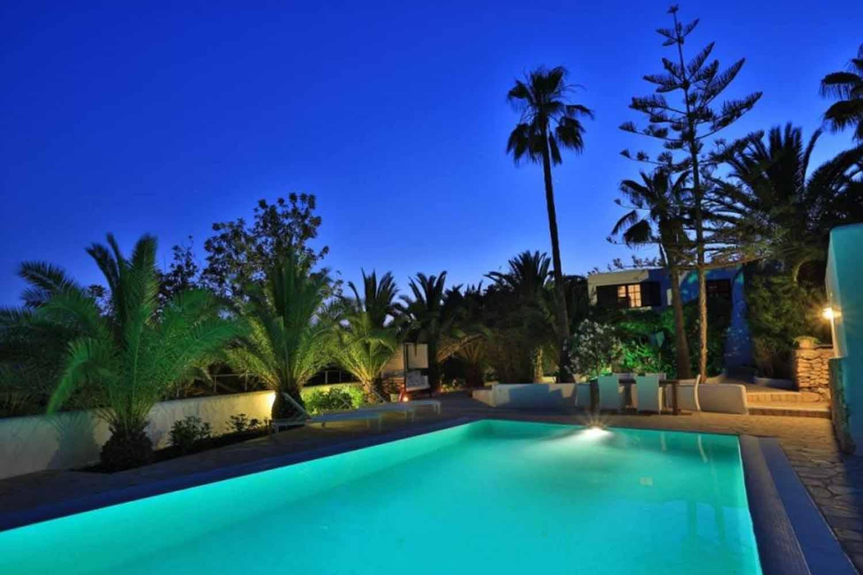 Piscina propia de preciosa villa en alquiler en Santa Getrudis, Ibiza