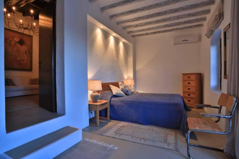 Dormitorio de preciosa villa en alquiler en Santa Getrudis, Ibiza
