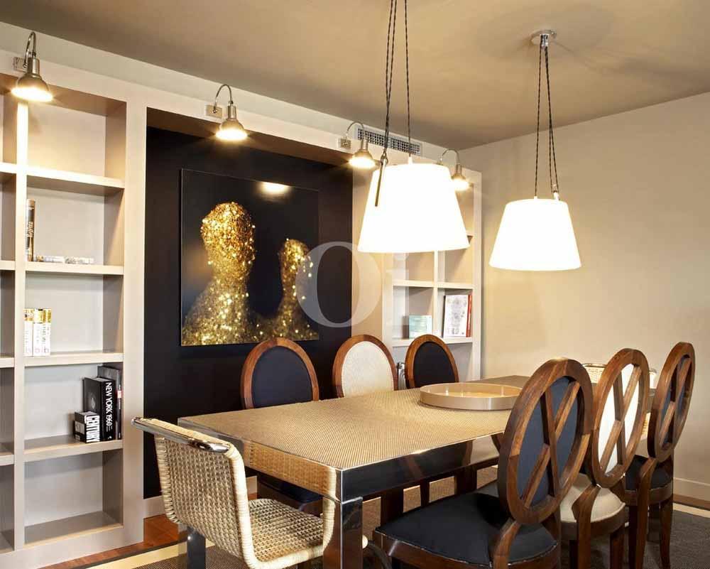 Гостиная-столовая квартиры на продажу в районе Sant Gervasi - La Bonanova