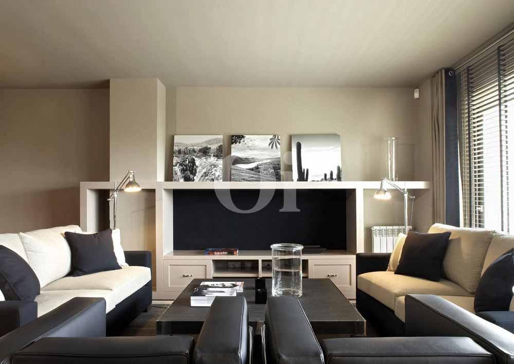 Sala de estar de lujoso apartamento en venta Sant Gervasi - La Bonanova, Barcelona